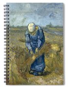 Peasant Woman Binding Sheaves - After Millet Spiral Notebook