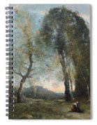 Peasant Woman Collecting Wood Spiral Notebook