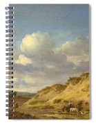 Peasants Driving Cattle And Sheep Spiral Notebook