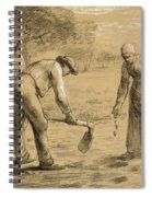 Peasants Planting Potatoes  Spiral Notebook