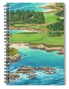 Pebble Beach 15th Hole-south Spiral Notebook