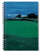 Pebble Beach Golf Course 8th Green Spiral Notebook