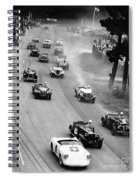 Pebble Beach California Sports Car Races Auto Road Race April 11 1954 Spiral Notebook