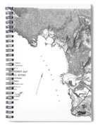 Pebble Beach To  Carmel Mission Carmel River 1876 Spiral Notebook