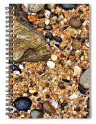 Pebbles And Sand Spiral Notebook