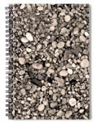 Pebbles Bw Spiral Notebook