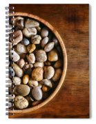 Pebbles In Wood Bowl Spiral Notebook