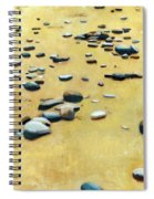 Pebbles On The Beach - Oil Spiral Notebook
