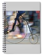 Pedaling Past Spiral Notebook