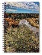Pedernales River In Autumn Spiral Notebook