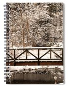Pedestrian Bridge In The Snow Spiral Notebook