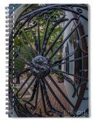 Peek Into Courtyard Spiral Notebook
