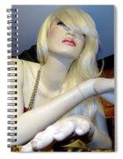 Peekaboo Blonde Spiral Notebook