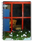 Peeking In Spiral Notebook