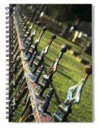 Peeling Graveyard Perspective Spiral Notebook