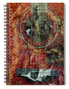 Peeling Guitar Spiral Notebook