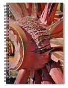 Peeling Pink Wagon Wheel Spiral Notebook