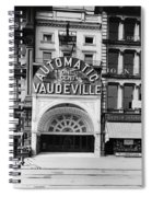 Peep Show Theater, 1890s Spiral Notebook