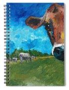 Peeping Bessie Spiral Notebook