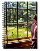 Peering Out The Window Spiral Notebook