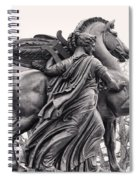 Pegasus Tamed By The Muses Erato And Calliope Spiral Notebook