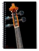Pegs And Scroll Spiral Notebook