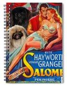 Pekingese Art - Salome Movie Poster Spiral Notebook