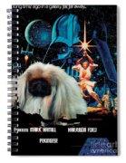 Pekingese Art - Star Wars Movie Poster Spiral Notebook