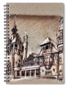 Peles Castle Romania Drawing Spiral Notebook