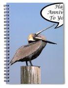 Pelican Anniversary Card Spiral Notebook