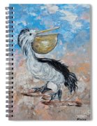 Pelican Beach Walk - Impressionist Spiral Notebook