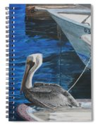 Pelican On A Boat Spiral Notebook