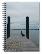 Pelican On The Dock Spiral Notebook