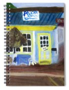 Pelican Restaurant On Lake Ave In Lake Worth Florida Spiral Notebook