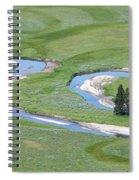 Pelican Valley Swirls Spiral Notebook