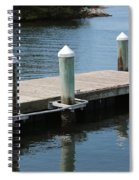 Pelicans On Dock In Florida Spiral Notebook