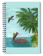 Pelicans Palm Trees Tropical Birds Cathy Peek Spiral Notebook