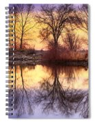 Pella Crossing Sunrise Reflections Hdr Spiral Notebook