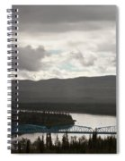 Pelly Crossing River Bridge Yukon Territory Canada Spiral Notebook