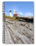 Pemaquid Point Lighthouse In Maine Spiral Notebook