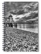 Penarth Pier 2 Mono Spiral Notebook