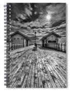 Penarth Pier 2 Monochrome Spiral Notebook