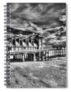 Penarth Pier 6 Monochrome Spiral Notebook