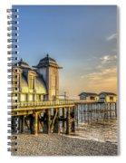 Penarth Pier Dawn Spiral Notebook