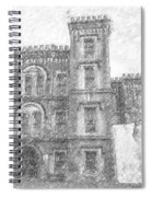 Pencil Drawing Of Old Jail Spiral Notebook