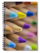 Pencils Colored Macro 5 Spiral Notebook