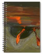 Penguin From Under Water Spiral Notebook