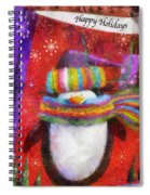 Penguin Happy Holidays Photo Art Spiral Notebook