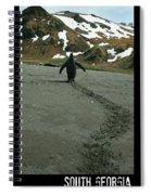 Penguin Travel Poster Spiral Notebook