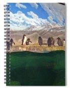 Penguins On Ice Spiral Notebook